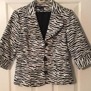Boston Proper Zebra Blazer